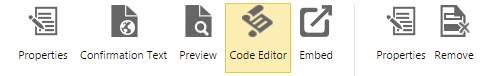 Web Content Code Editor Button