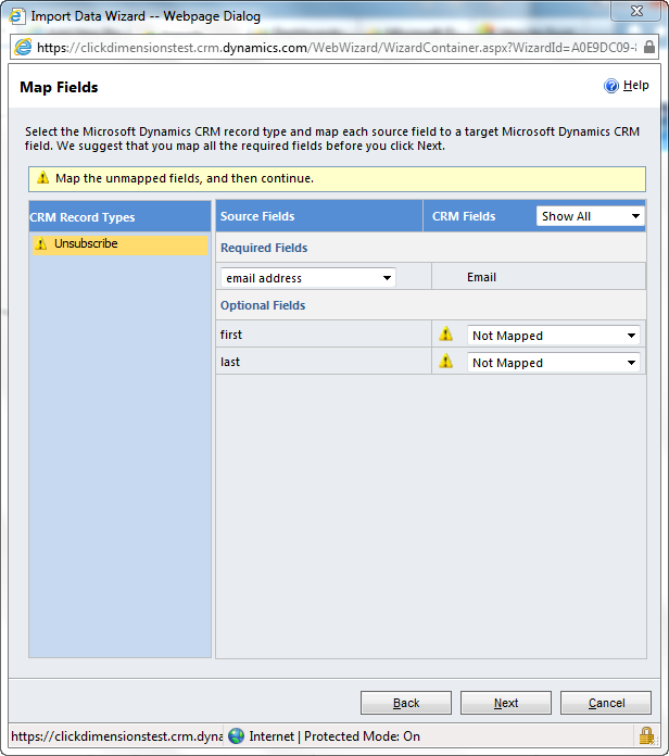 Import Unsubscribes and Suppression Lists – ClickDimensions