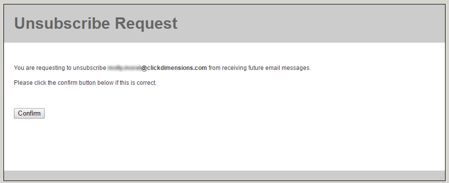 unsubscribes clickdimensions support