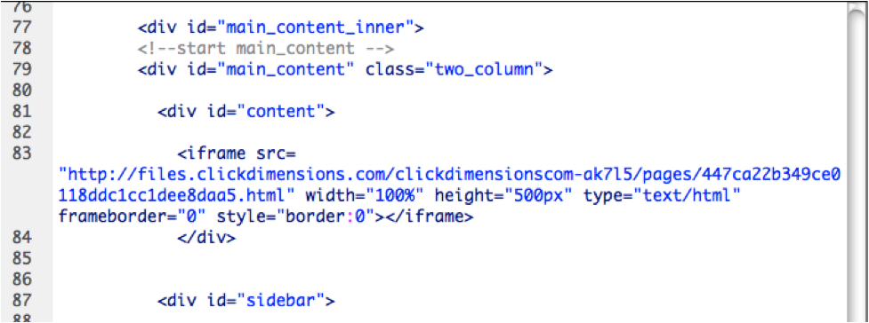 Embed Web Content – ClickDimensions Support