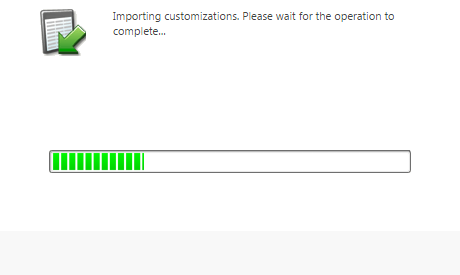 2016 Deployment Importing Customizations