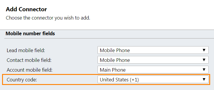 CRM2011 Twilio Country Code