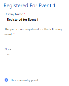 registered for event trigger fields 1