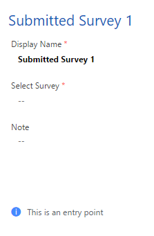 submitted survey trigger settings
