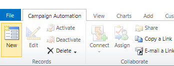 New Campaign Automation Button 2011