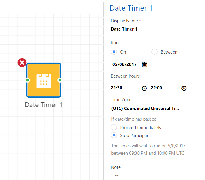 CD date timer settings