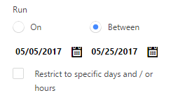 CA date timer between restrict unchecked