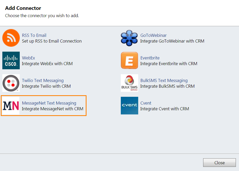 CRM2011 Add Connector