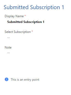 submitted subscription trigger settings