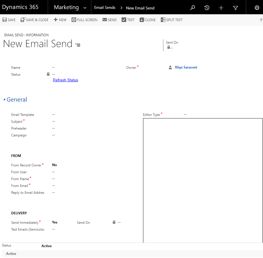 Create an Email Send – ClickDimensions Support