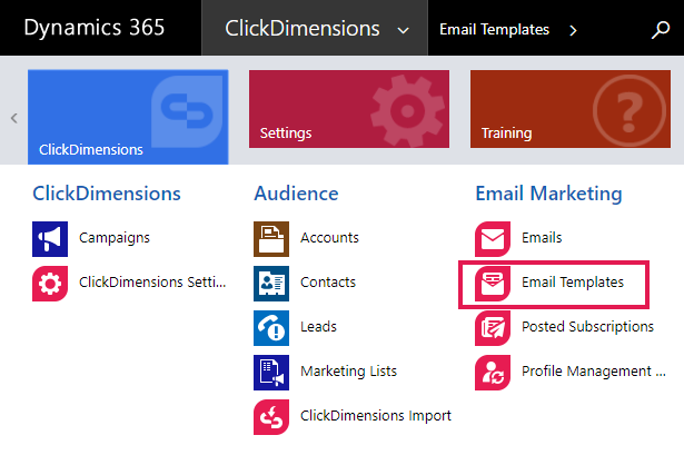 Create An Email Template Clickdimensions Support
