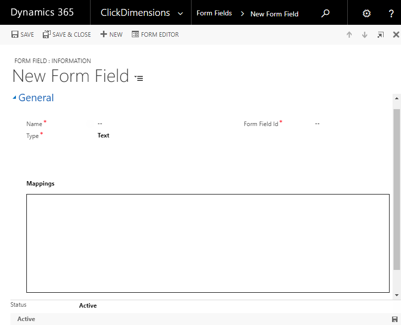 Create ClickDimensions Form Fields – ClickDimensions Support