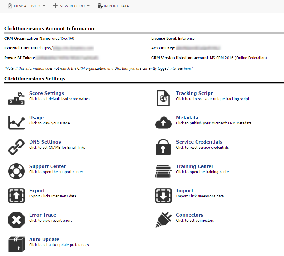 ClickDimensions Settings – ClickDimensions Support